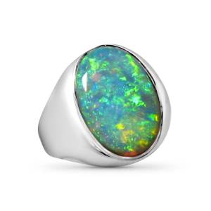Mens big opal ring for sale