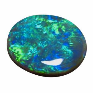 Black Opal Loose Stone Big Oval Blue Green