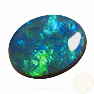 Black Opal bright Green and Blue