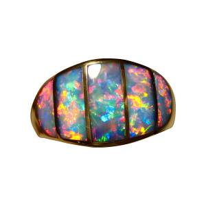 Inlay opal ring for sale