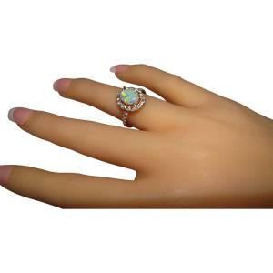 Opal and diamond ring from Australia shipping worldwide
