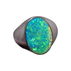 Mens opal ring for sale