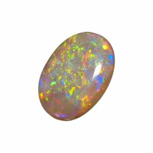 Oval crystal opal from Coober Pedy