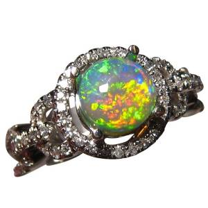 Natural opal ring for sale