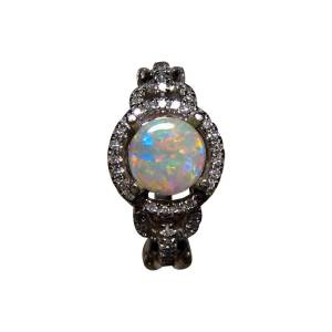 Bright and colorful opal ring