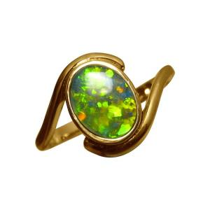 Solitaire opal ring for sale for women