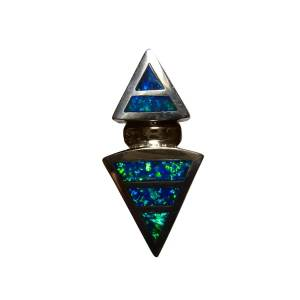 Inlaid opal pendant for men or women